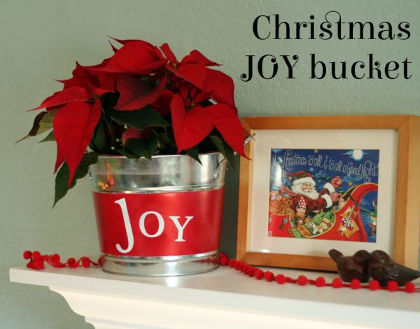 Airbrush Christmas Joy Bucket