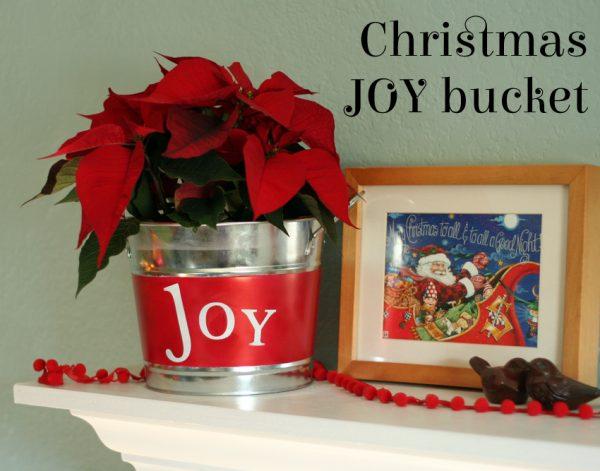Airbrush Christmas Joy Bucket