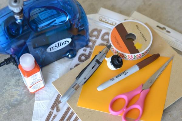 Supplies for Airbrush Handprint Turkey Keepsake