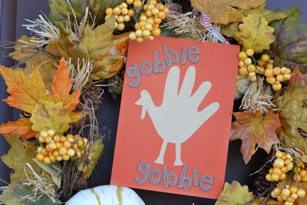 Airbrush Handprint Turkey Keepsake
