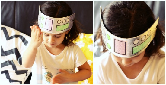 aluminum foil robot hat for kids