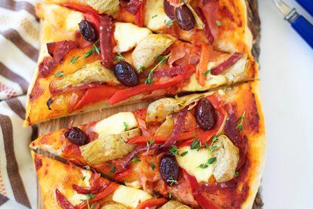 Antipasto Flatbread Pizza