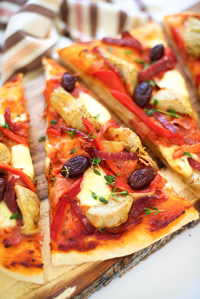 Antipasto Flatbread Pizza