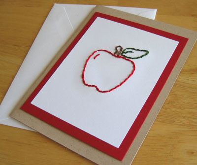 apple-stitched card pattern