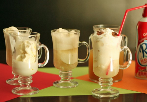 Making apple cider floats with kids