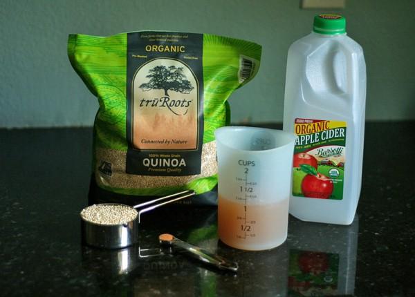 Ingredients for apple cider quinoa