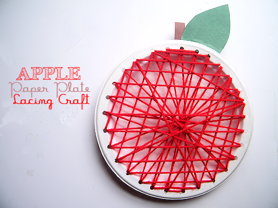 Paper Plate Lacing Craft