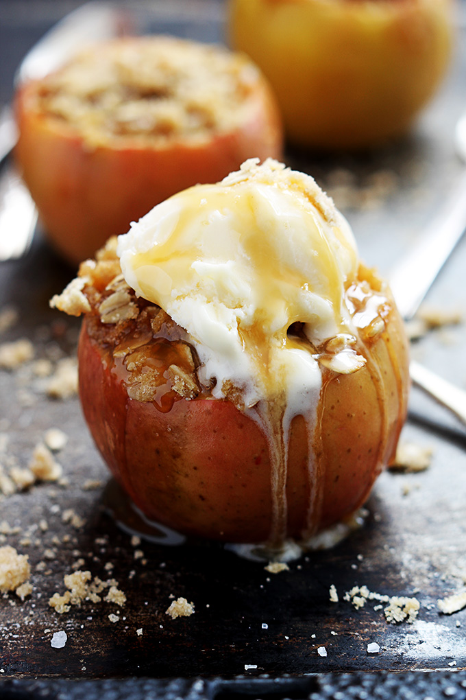 Apple Crisp Stuffed Baked Apples for Fall | Make and Takes