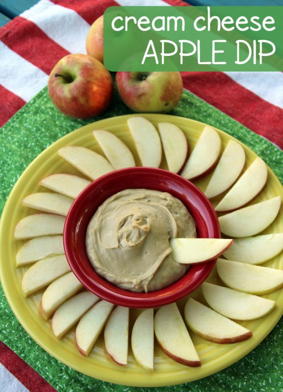 Simple cream cheese apple dip