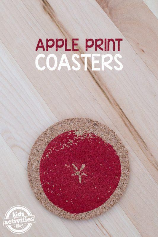 Apple Print Coasters