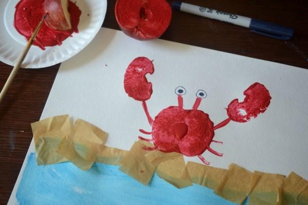 Apple Stamped Crab- Step 3