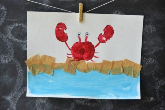 Apple Stamped Crab