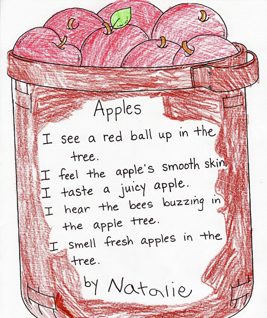 five senses apple poem