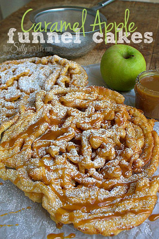 Caramel Apple Funnel Cakes