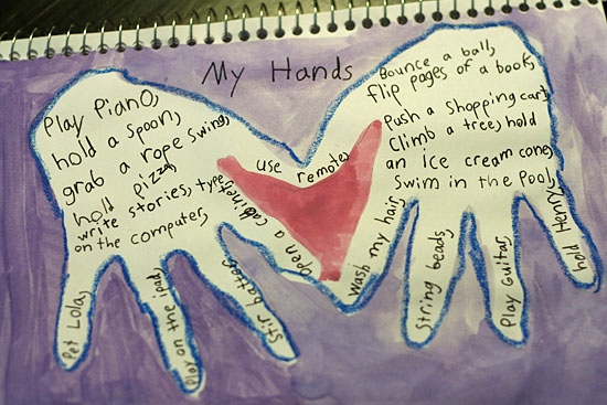 Art Journaling with Kids: My Hands