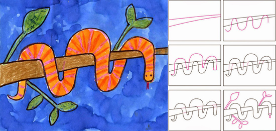 Art Projects for Kids wrap snake