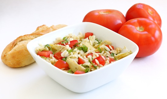 easy pasta salad lemon orzo salad with asparagus spinach and feta ...