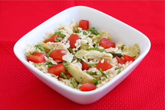 artichoke orzo salad