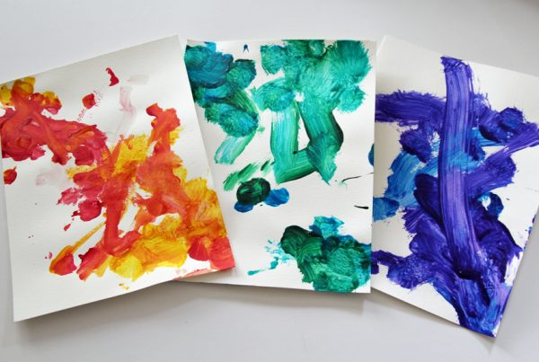 Rainbow paintings for toddlers and preschoolers