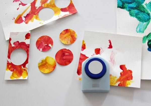 Circle punch kids' artwork