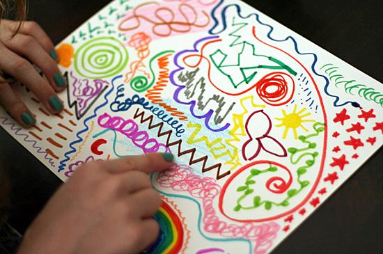 Drawing abstract art