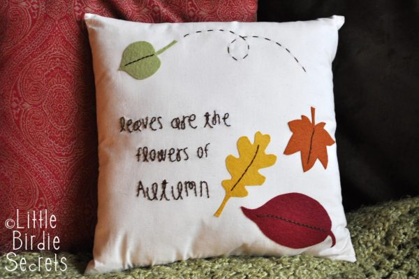 Finished Autumn Pillow