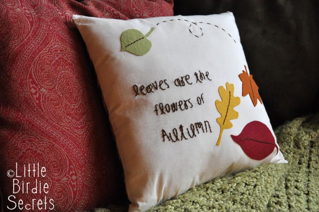 Autumn Leaves Pillow Tutorial