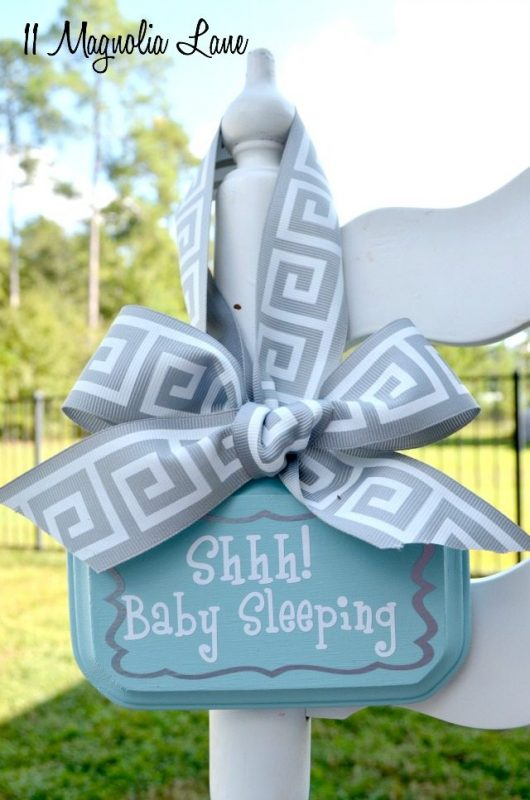 DIY Baby Sleeping Door Hanger Sign