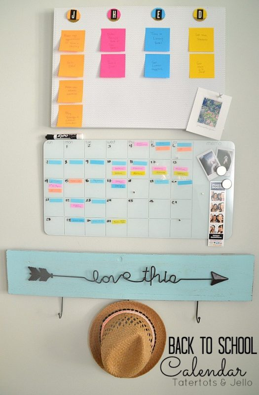 DIY Back to School Calendar System