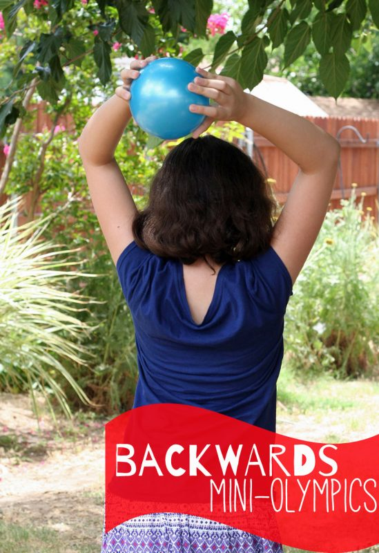 Backwards Mini-Olympics for Kids