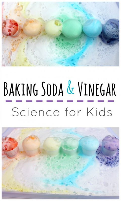 Rainbow Baking Soda and Vinegar Science