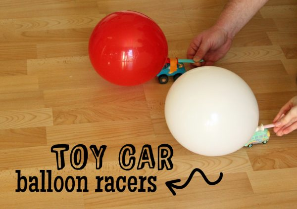 Toy Car Balloon Racers - STEM challenge for kids