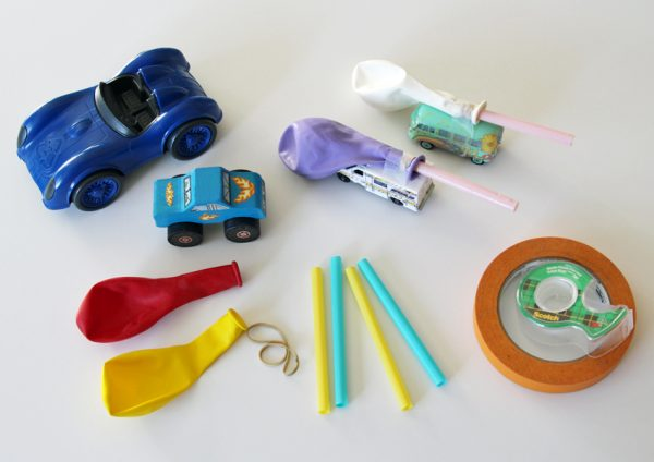 Making balloon-powered toy cars
