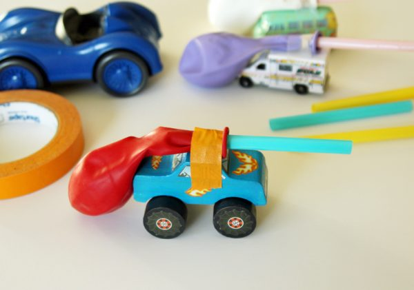 Science fun with balloon-powered toy cars