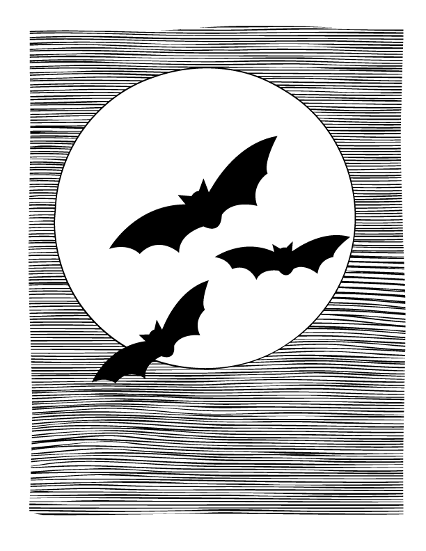 Bats Coloring Page
