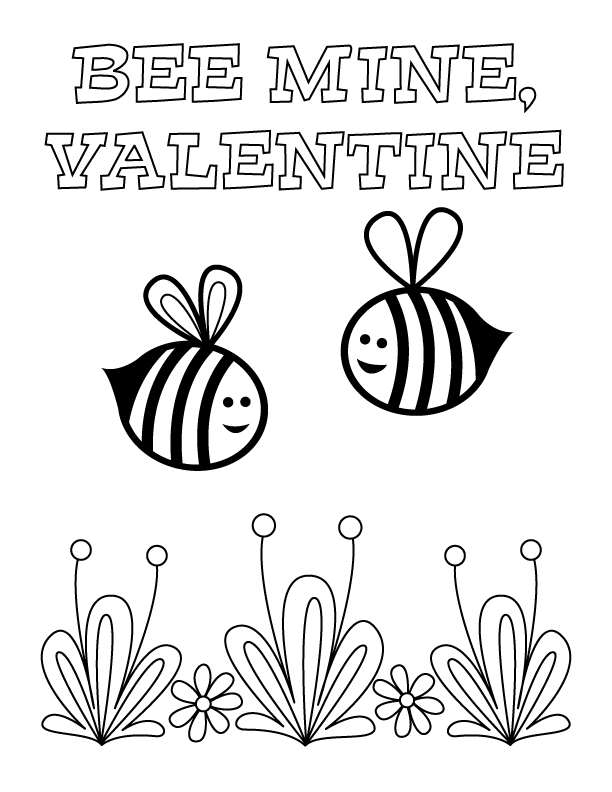 Valentine S Day Coloring Pages Make And Takes