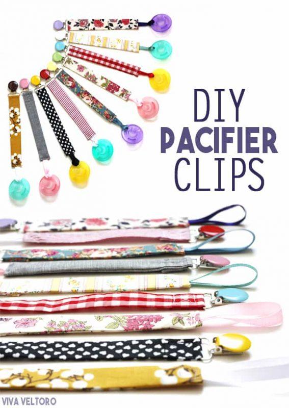 DIY Colorful Binky Clips