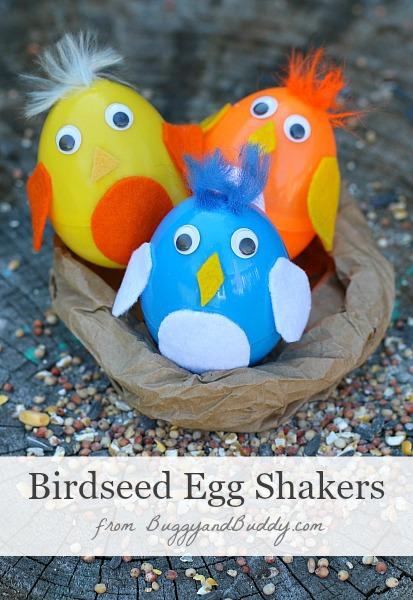 Baby Bird Plastic Egg Shakers
