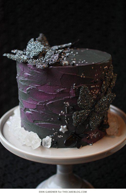 Black Butterfly Cake