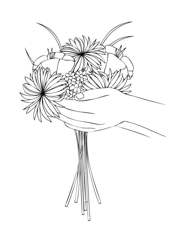 Flower Bouquet Coloring Page