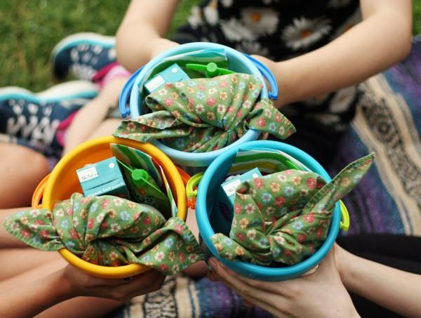 Breakfast picnic buckets