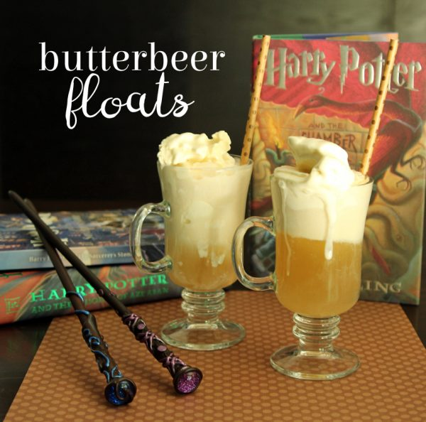 Harry Potter inspired Butterbeer floats