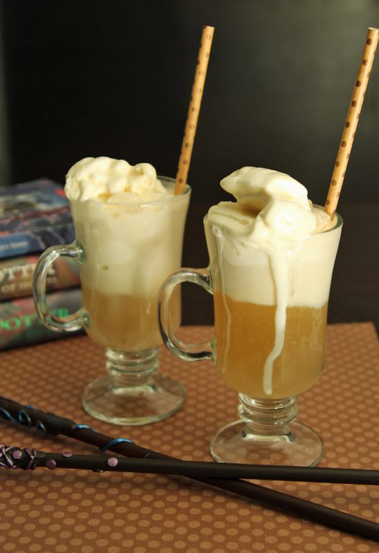 Butterbeer floats for Harry Potter fans