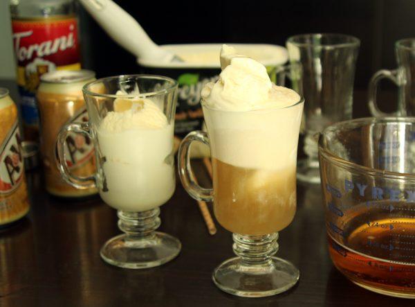 Butterbeer ice cream floats