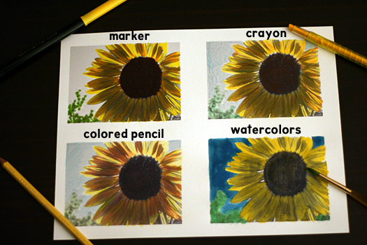 Coloring Fun with Sunflowers
