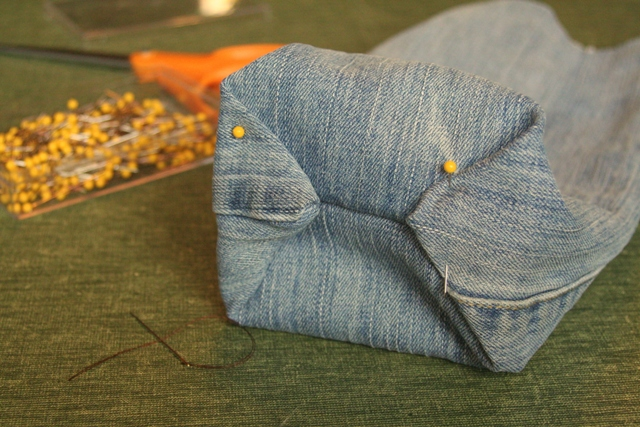 Sewing Jean Lunch Sack