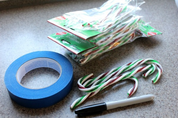candy cane hide and seek supplies for