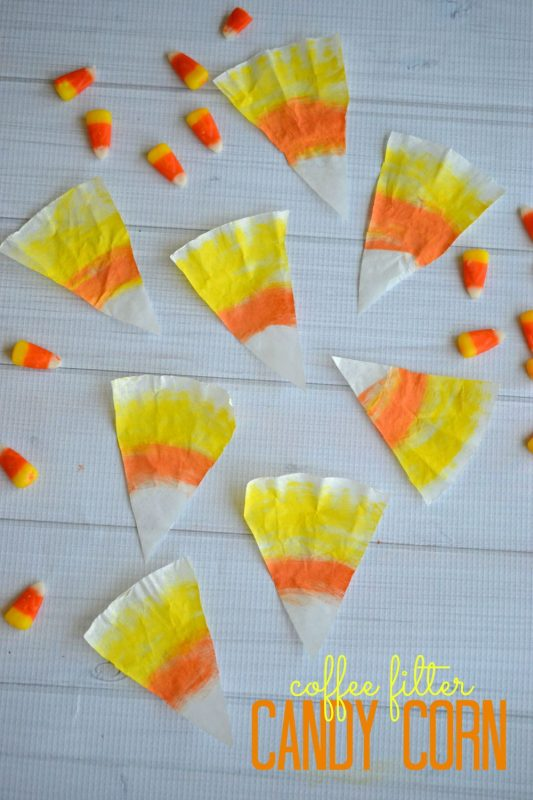 Coffee Filter Candy Corn Kid Craft