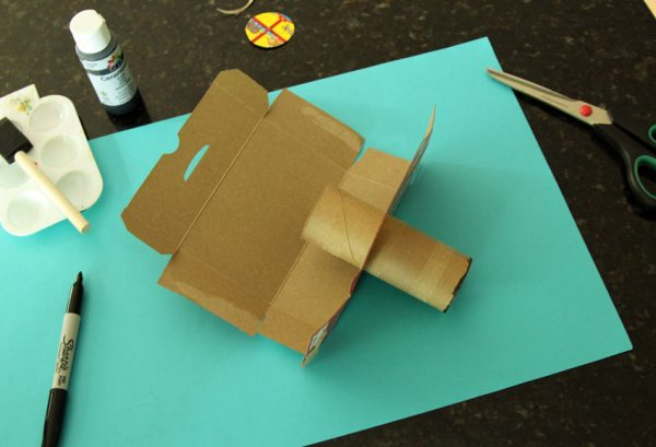 Making a cardboard camera for kids