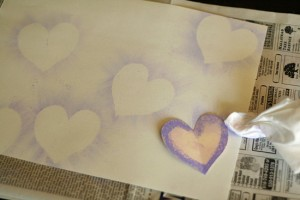 Chalk Pastel Hearts Background